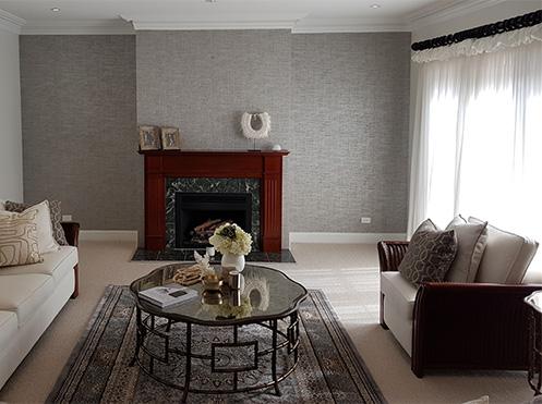 bedroom wallpaper installation