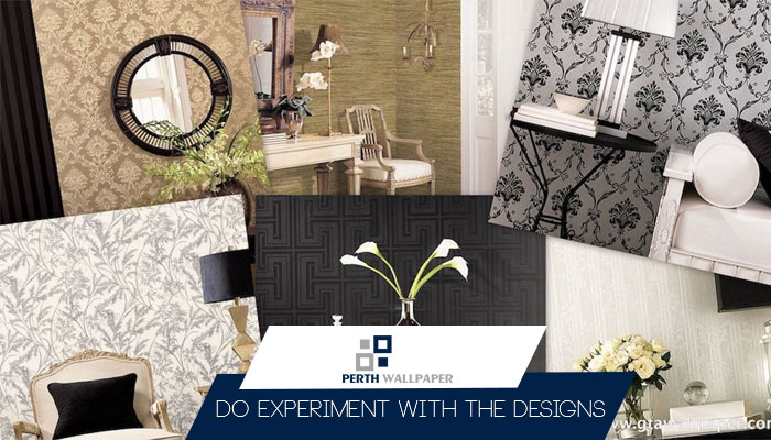 experiment with the wallpaper designs