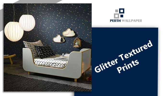 glitter textured prints wallpaper