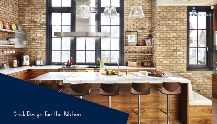brick design for the kitchen