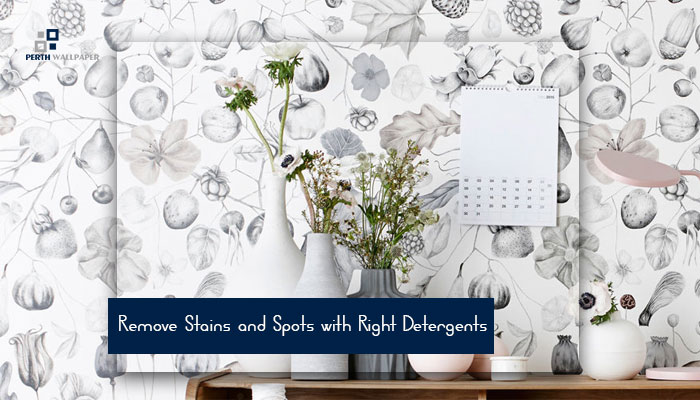 remove stains and spots with right detergents