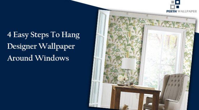 designer wallpaper around windows