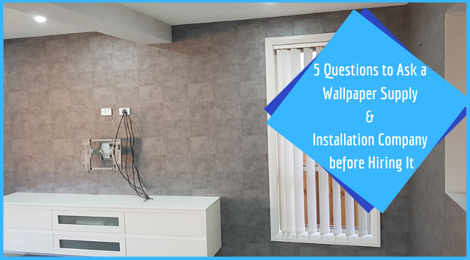 wallpaper supply installation company
